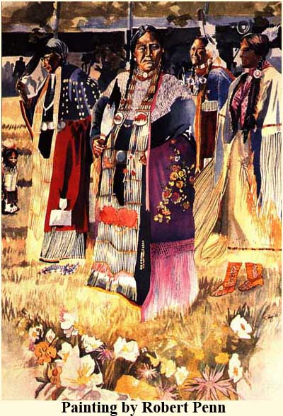 A painting by Bob Penn of native women